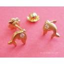 Ptes. delfines - Oro y circonitas -