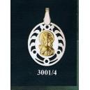 Virgen niña en plata y oro - oval nº3