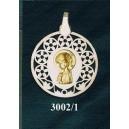 Virgen niña en plata y oro - oval nº4