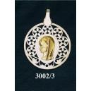 Virgen niña en plata y oro - circular nº2