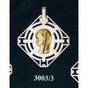 Virgen niña en plata y oro - cuadrado nº2