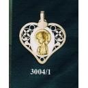 Virgen niña en plata y oro - cuadrado nº4