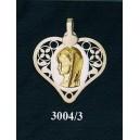 Virgen niña en plata y oro - corazón nº2