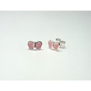 Pendientes mariposas rosas