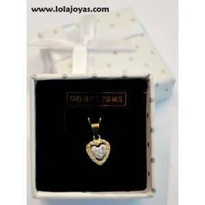 Colgante Oro -  corazón -