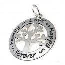 Colgante árbol de la vida personalizado , plata de ley