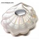 Concha de bautismo nácar - modelo 4 blanco  -