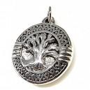 Colgante árbol de la vida, plata y murano  45 mm.