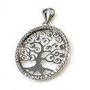 Colgante árbol de la vida, plata electroforma