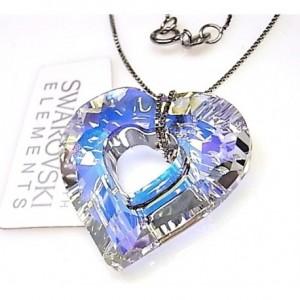 b3059e644024 Colgante corazón swarovski destellos