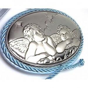 Medallón ángeles azul