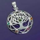 Colgante árbol de la vida y chakras