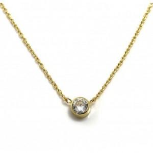 Gargantilla punto de luz - plata chapada en oro