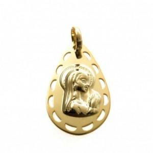 Medalla Virgen niña 2. Plata chapada en oro