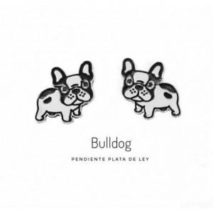 Pendientes Bulldog plata de ley