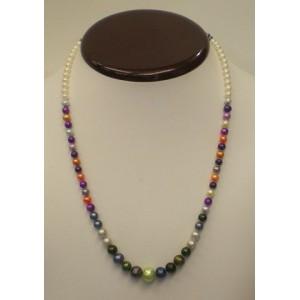 e61d5234d9e7 Collar Perlas colores de agua dulce. - lolajoyas.com