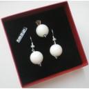 Juego concha de perla australiana y plata