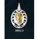 Virgen niña en plata y oro - oval nº2