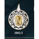 Virgen niña en plata y oro - circular nº1