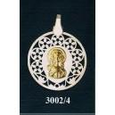 Virgen niña en plata y oro - circular nº3